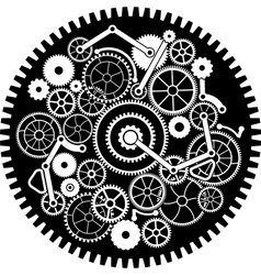 gear mechanism second variant vector image