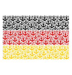 Germany flag pattern of anchor icons vector