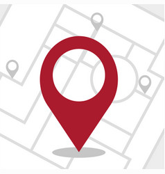 gps - navigator pin checking red color on white vector image