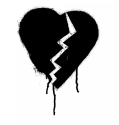 Graffiti Broken heart vector