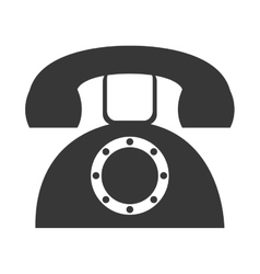 grey old phone graphic vector image