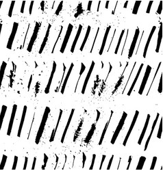 grunge seamless black ink strokes textured pattern vector image