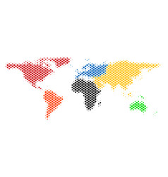 halftone pixel world map vector image