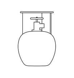 Icon camping gas container vector