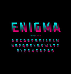 Impossible shape font design vector