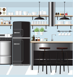 Kitchen inspiration design vector