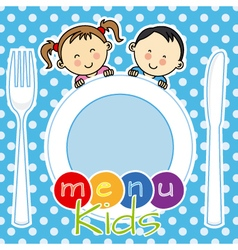 menu kids vector image