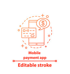 Mobile payment app concept icon vector