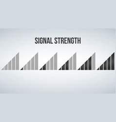 Mobile phone signal strength indicator template vector