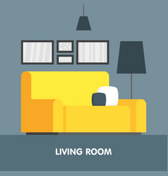modern living room interior design icon vector image