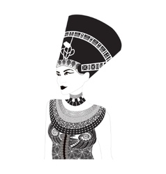 Nefertiti - Egyptian Queen vector image