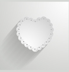 paper heart with a lacy border vector image