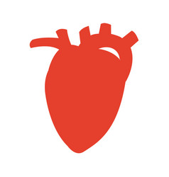 Pictogram heart organ healthy care medical sport vector