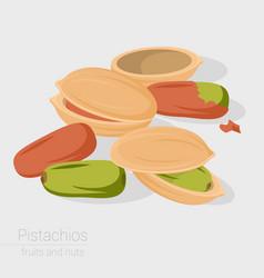 pistachios icon vector image