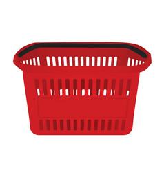 Red supermarket basket vector