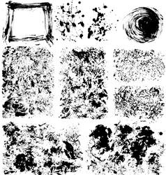Set of textures vector