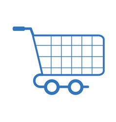 Silhouette shopping car to website buy icon vector