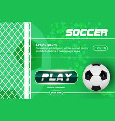 soccer green poster design football ball vector image