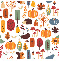 thanksgiving autumn seamless pattern vector image