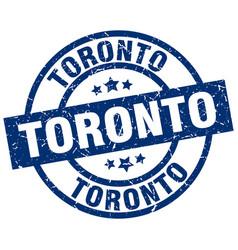Toronto blue round grunge stamp vector