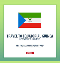 Travel to equtorial guinea discover and explore vector