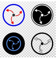 Turbine rotation eps icon with contour vector