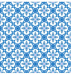 vintage seamless pattern in portugal style azulejo vector image