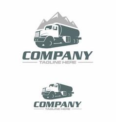 water truck logo vector image