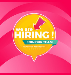We are hiring background in flat style vector