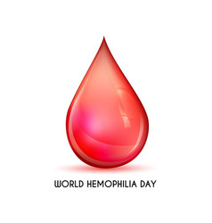world hemophilia day vector image