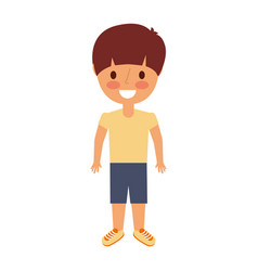 Young boy kid smiling happy gesture vector