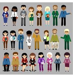 Big set of business people vector image vector image