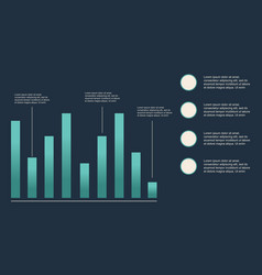 Business infographic with graphic and data design vector