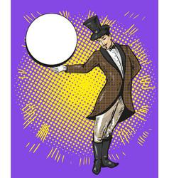 circus magician or casino croupier character vector image