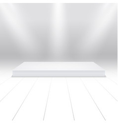 empty white podium for products 3d white stage in vector image