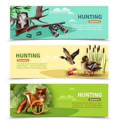 hunting horizontal banners vector image