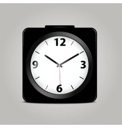 Square mechanical clock vector image vector image