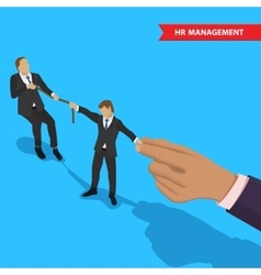 Battle for employee vector image vector image