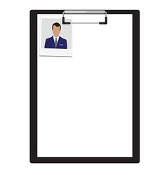 Clipboard with photo vector image