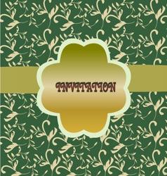 green floral pattern vintage floral background vector image vector image