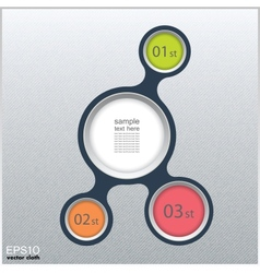 Metaball infographic elements in flat design vector image vector image