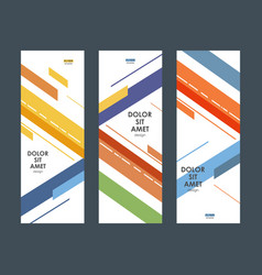roll up design template with abstract line vector image