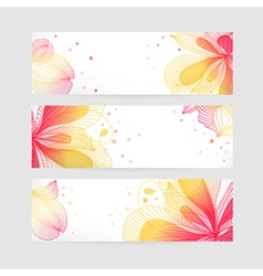 Set floral banners vector image vector image