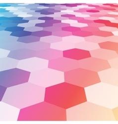 abstract colorful hexagonal floor 3d vector image