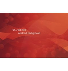 Abstract red waves background vector image vector image