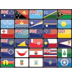 Elements design icons flags of the countries of Au vector image vector image