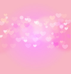 hearts in sweet pink light vector image