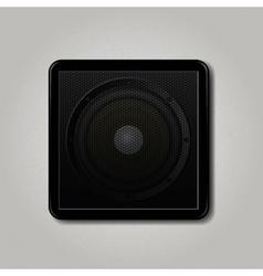 Square speaker icon vector image vector image
