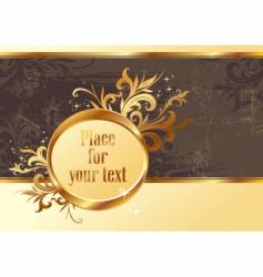 vintage gold frame for text vector image