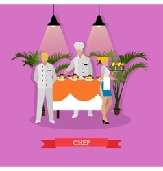 chef headwaiter and vector image vector image